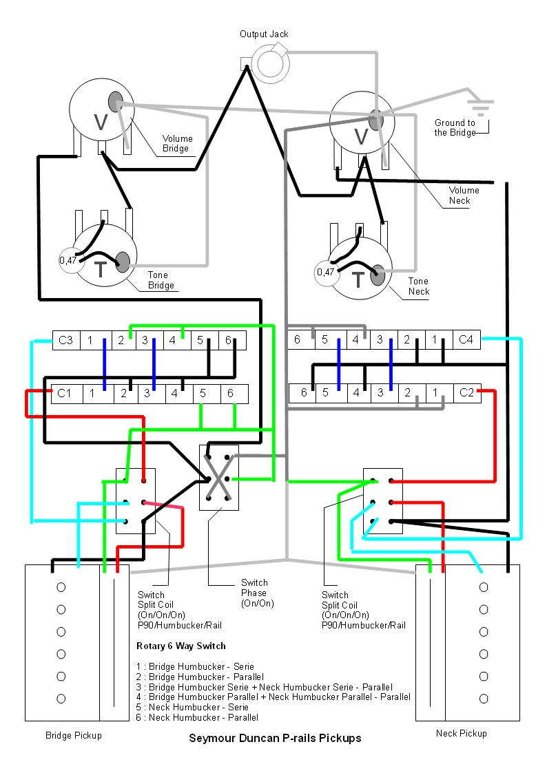 P Rail Wiring Diagram And Schematics 4 Wire Humbucker Rails Is It Good Rh Seymourduncan Com